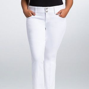 NWT Torrid White Wash Flare Jeans Size 20
